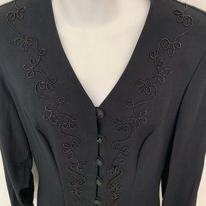 Black fitted blazer dressy size 9/10